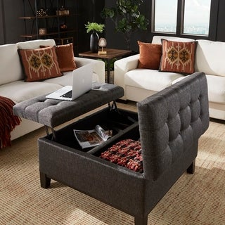 Link to Denton Lift-Top Storage Ottoman with 2 Trays by iNSPIRE Q Classic Similar Items in Cocktail Ottomans