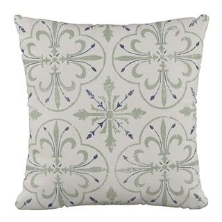 Skyline Furniture 18 x 18 Pillow in Paris Tile Cream