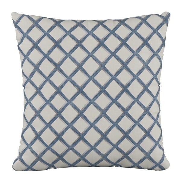Skyline Furniture 18 x 18 Pillow in Lattice Navy