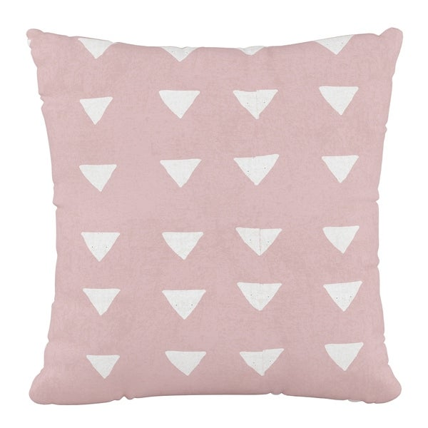 Skyline Furniture 18 x 18 Pillow in Triangle Pink