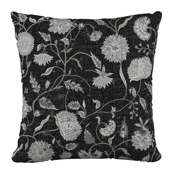 Skyline Furniture 18 x 18 Pillow in Dahlia Black