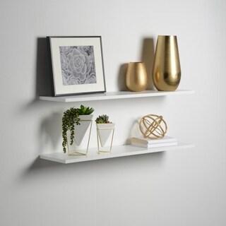 8 x 36 x 1 2 pk White Slim Floating Shelves
