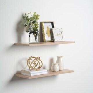 8 x 36 x .6 2 pk Light Oak Slim Floating Shelves