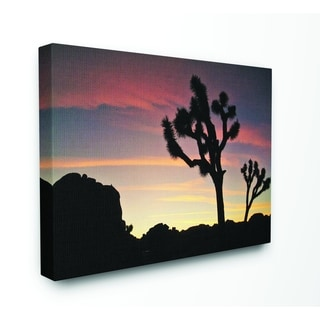Stupell Industries Desert Tree Sunset Silhouette Photograph Canvas Wall Art