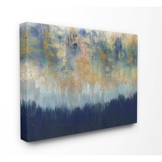 Stupell Industries Abstract Gold Blue Textured Surface Painting Canvas Wall Art