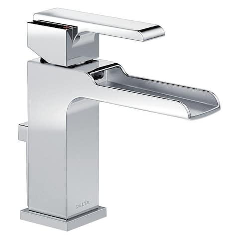 Delta Single Handle Lavatory Faucet with Channel Spout - Metal Pop-Up