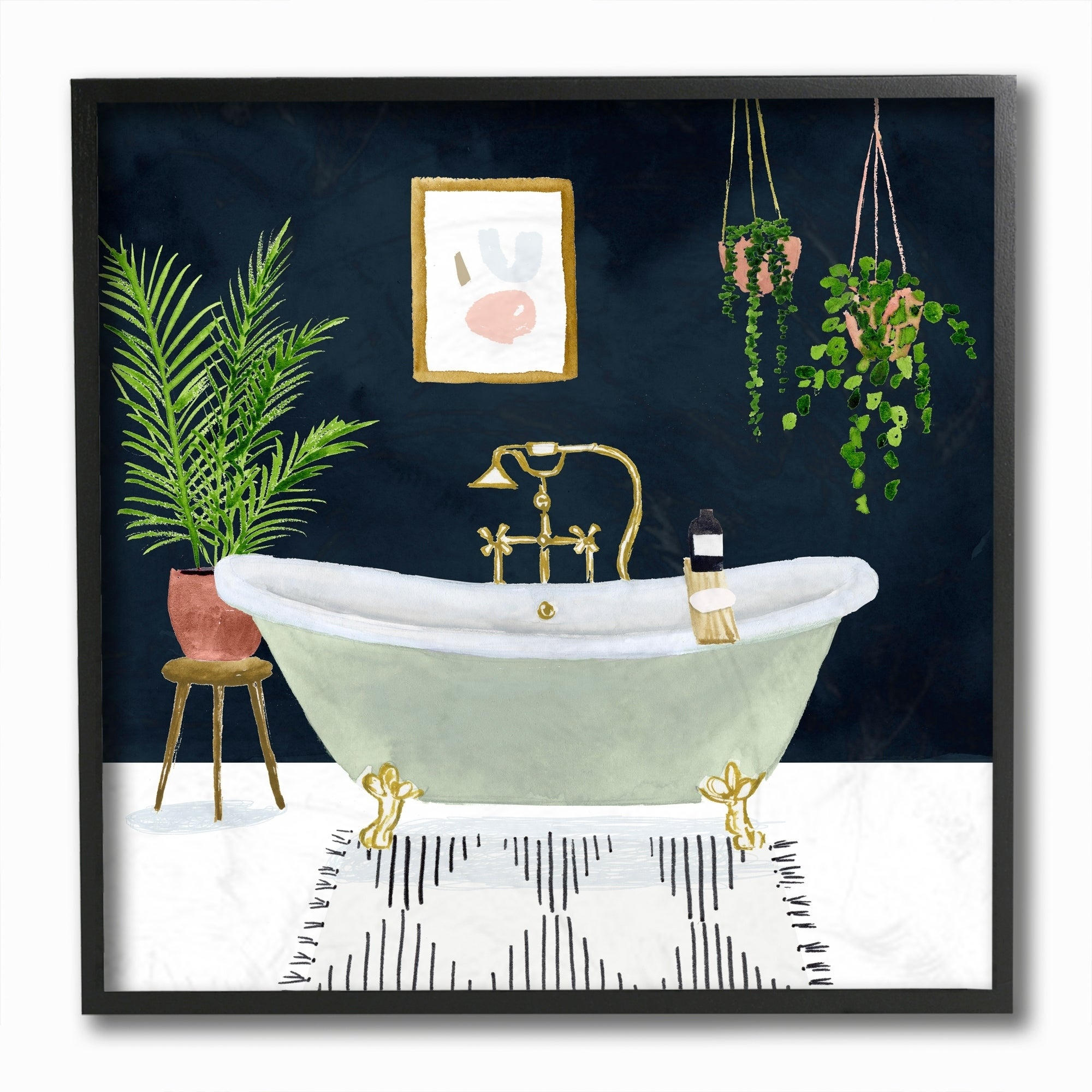 Designer Bathroom Blue Gold Design
