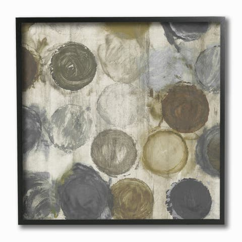 Stupell Industries Abstract Dots Textured White Neutral Painting, 12x12, Framed Wall Art - 12 x 12