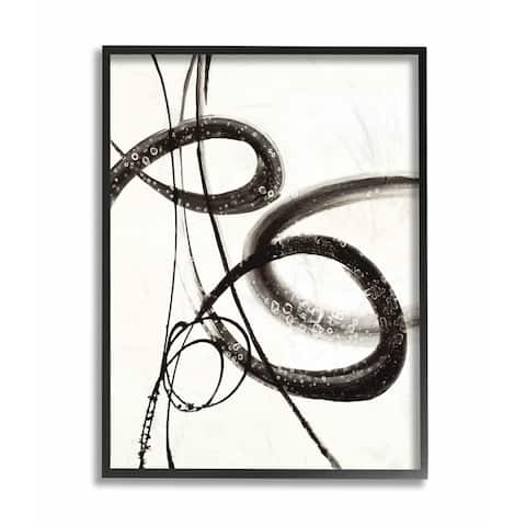 Stupell Industries Abstract Ink Swirls Painting Framed Wall Art