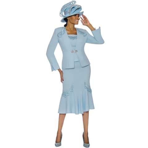 Susanna Women's 3 Piece Occasion Church Skirt Suit