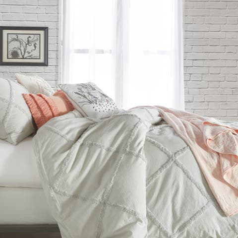 Porch & Den Norris Lattice Cotton Duvet Cover