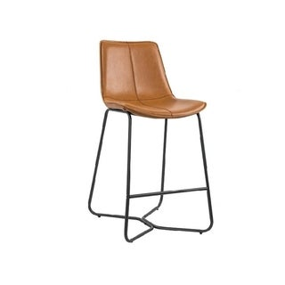 Link to Salt counter Stool, made in Faux leather and Powder coated base in matte black. Similar Items in Dining Room & Bar Furniture