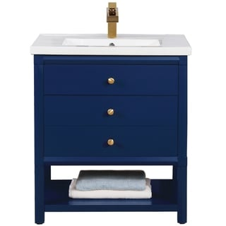 "Logan 30"" Single Sink Vanity In Blue"