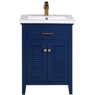 """Cameron 24"""" Single Sink Vanity In Blue"""