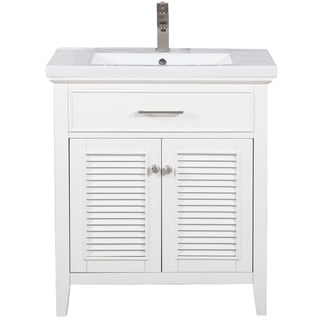 "Cameron 30"" Single Sink Vanity In White"