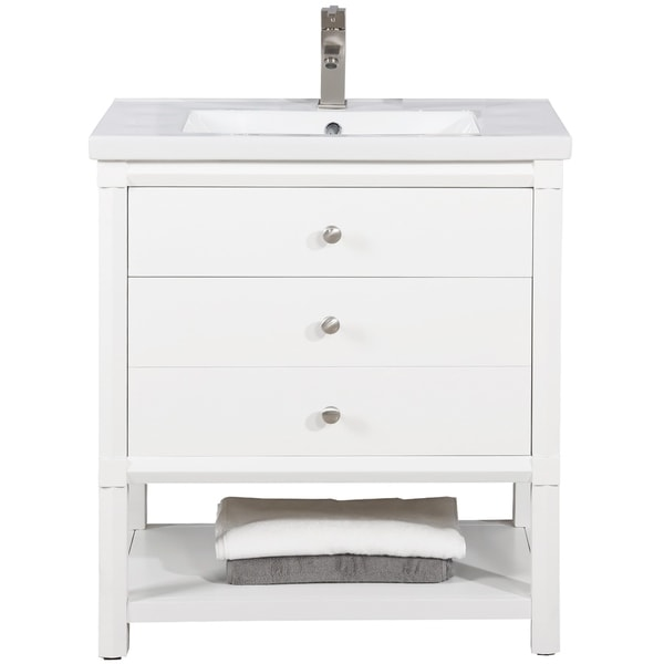 "Logan 30"" Single Sink Vanity In White"