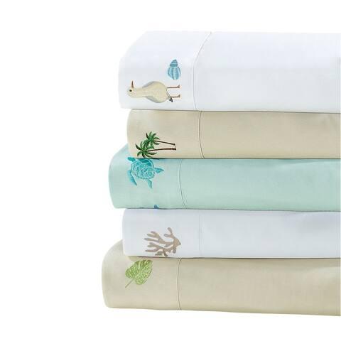 Harper Lane Tropical Embroidered 4-piece Bed Sheet Set