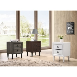 Furniture of America Zeren Contemporary 2-Drawer Nightstand
