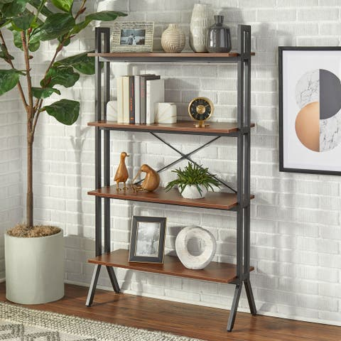 Simple Living Connection 4-Tier Bookshelf