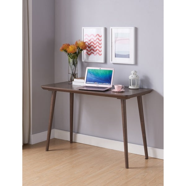 Furniture of America Domina Contemporary Writing Desk With USB Port