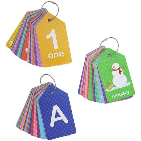 3-Pack First Words (Alphabet Numbers) Flash Cards for Infants and Preschoolers