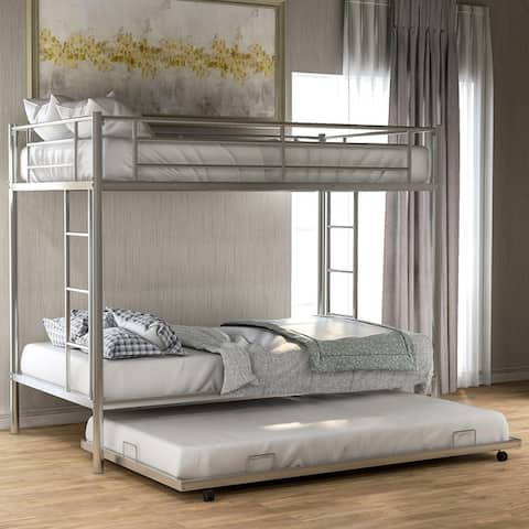 Harper & Bright Designs Twin over Twin Bunk Bed with Trundle