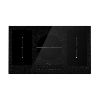 EMPAVA  36 in Electric Stove Induction Cooktop with 5 Heating Element 2 Flexi Bridge Booster Burners Smooth Surface in Black