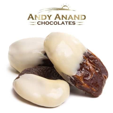 Andy Anand Belgian Chocolate Dates Bridge of White Milk & Dark Chocolate 1 lbs