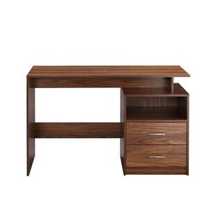 Porch & Den Moretti Wood Finish 2-drawer Computer Desk