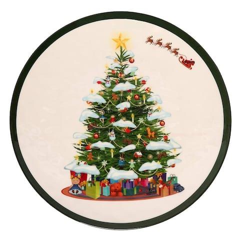 Melange 36 Pcs Melamine Dinner Plate Set (Christmas Tree Collection )