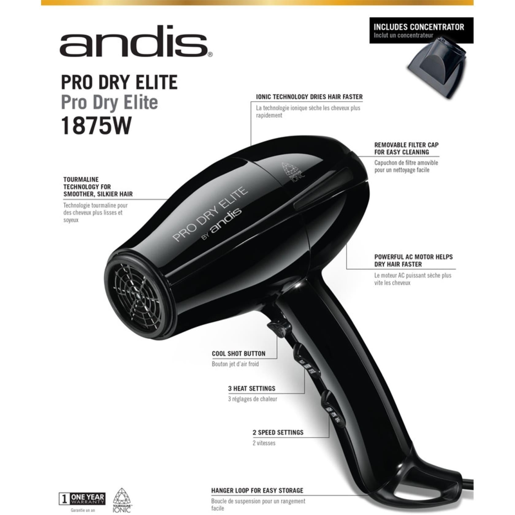 Rangement Pour Seche Cheveux andis pro dry elite ac-6 hair dryer