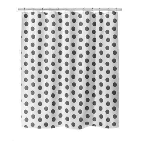 BIG POLKA DOTS DARK GREY Shower Curtain by Kavka Designs