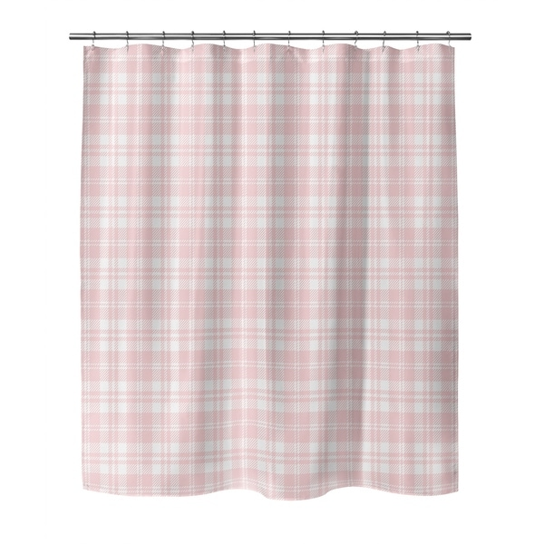 COZY PLAID BABY PINK Shower Curtain by Kavka Designs. Opens flyout.