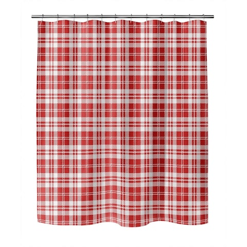 COZY PLAID RED Shower Curtain by Kavka Designs