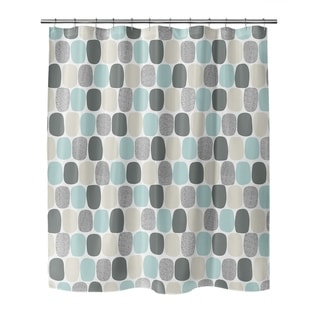 MID CENTURY OVALS TEAL Shower Curtain by Kavka Designs