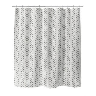 MUDCLOTH BIG ARROWS CREAM Shower Curtain by Kavka Designs