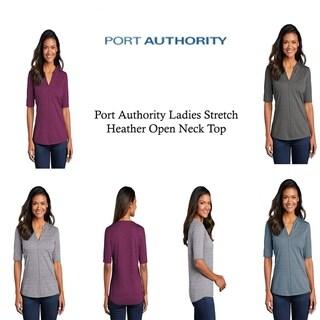 Port Authority Ladies Stretch Heather Open Neck Top