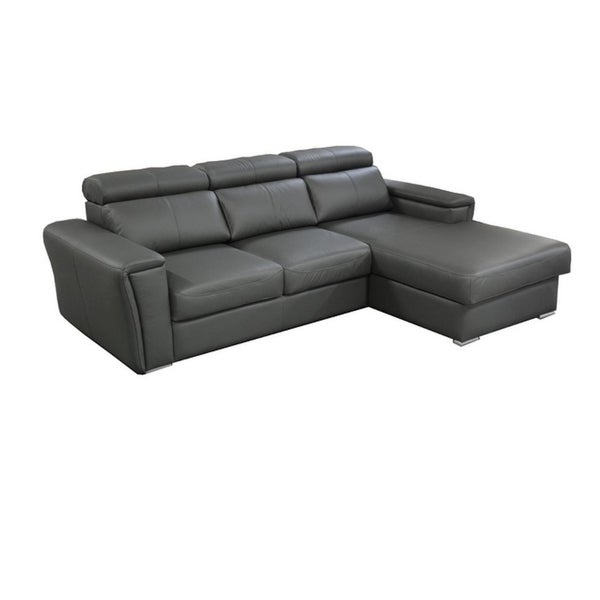 TROPIC Leather Sectional Sleeper Sofa, Right Corner