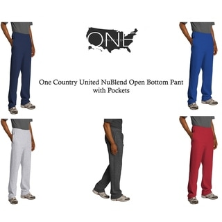 One Country United Blend Fleece Open Bottom Pant with Pockets.