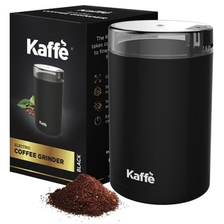 Kaffe Electric Coffee Grinder 2.5oz Capacity with Easy On/Off Button