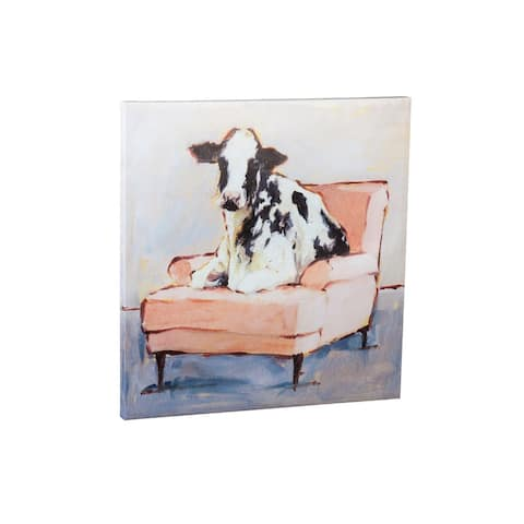 30-inch x 30-inch Moo-ving In Canvas Wall Décor
