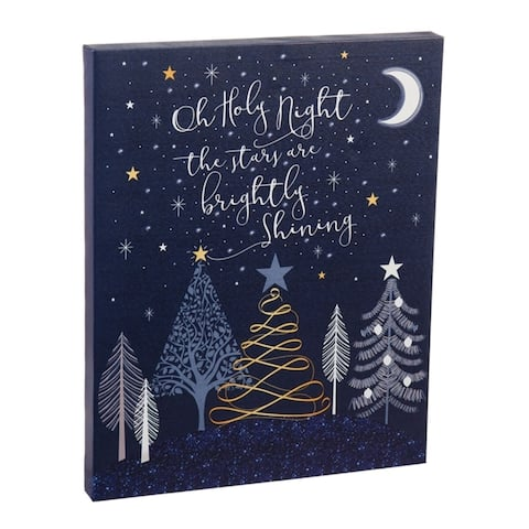 16-inch x 20-inch Starry Night LED Canvas Wall Décor