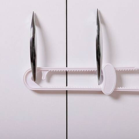 Dreambaby White Plastic Cabinet Slide Locks 2 pk