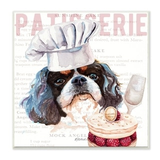 Stupell Industries Shih Tzu Dog Kitchen Bakery Pet Watercolor Painting,12x12, Wood Wall Art