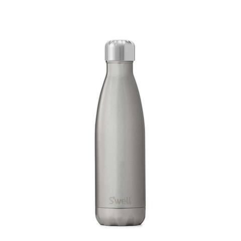 S'well SWB-SLVR07 Vacuum Stainless Steel Bottle, 17 oz, Silver Lining