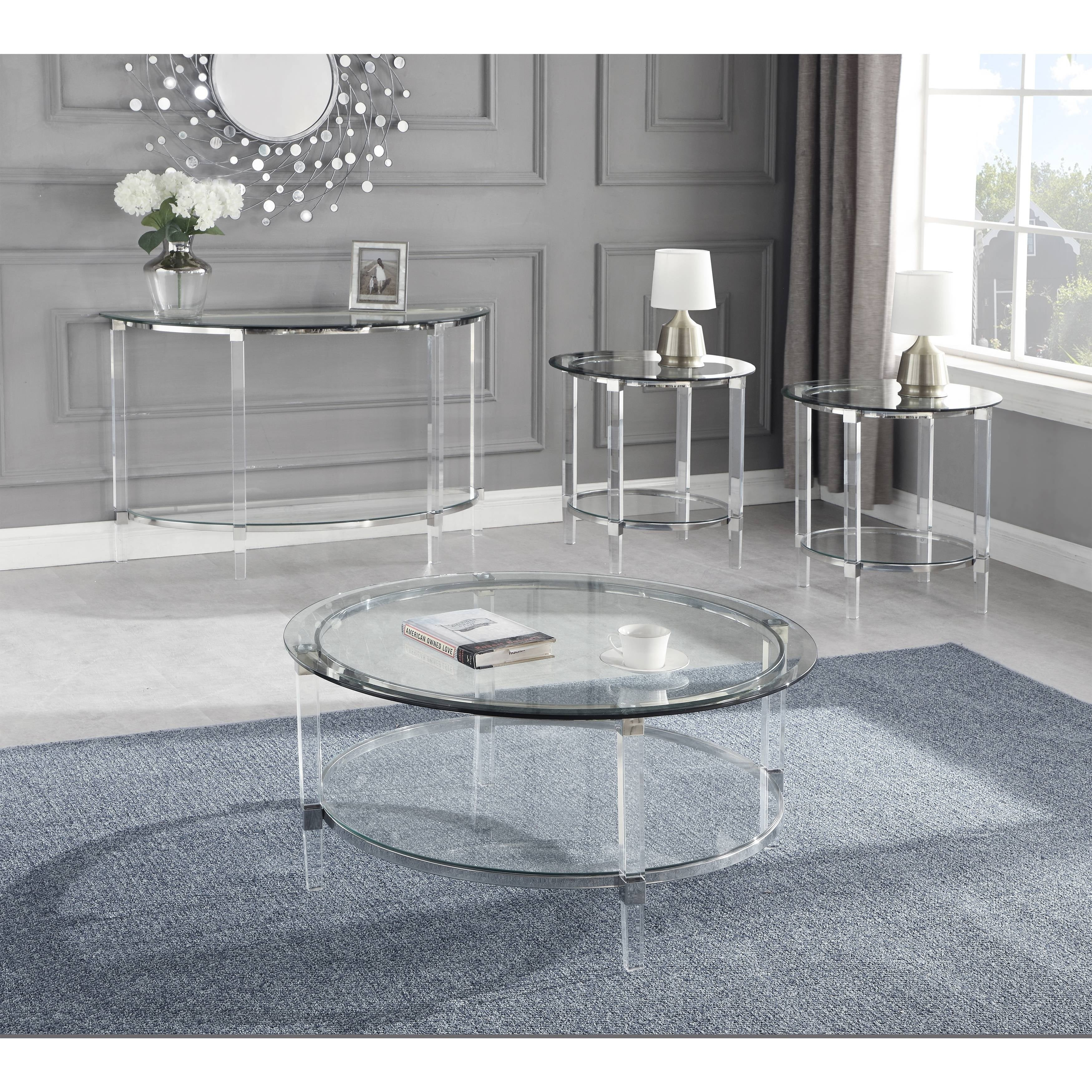 - Shop Best Quality Furniture 4-Piece Coffee Table Set With Round