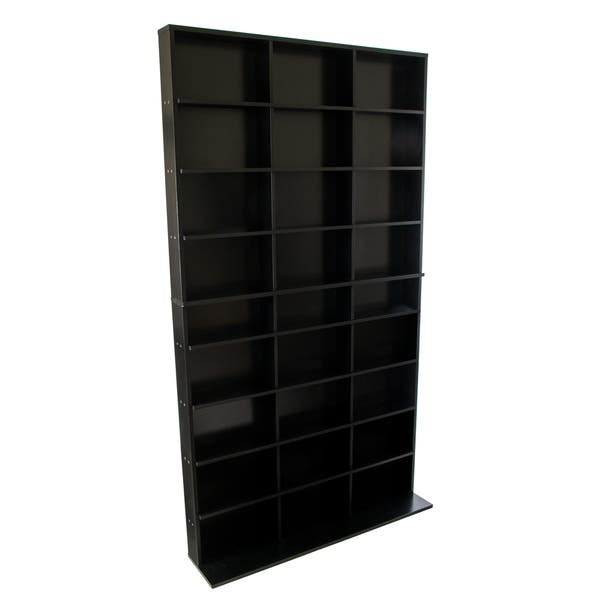 Elite Black Media Storage Cabinet