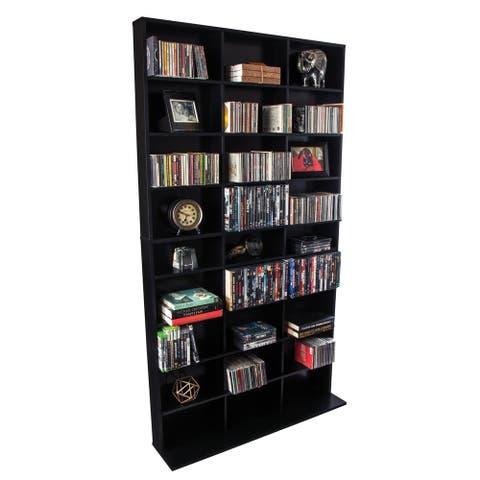 Atlantic Elite Black Media Storage Cabinet