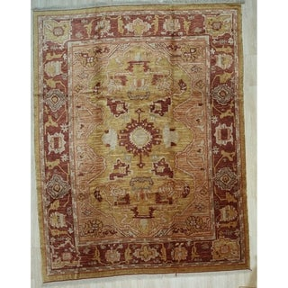 Gold Traditional Oushak Rug, 9'2 x 12' x 2 - 9'2 x 12' x 2
