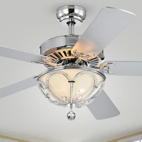 Silver Orchid Frederick 5-Blade Lighted Ceiling Fan